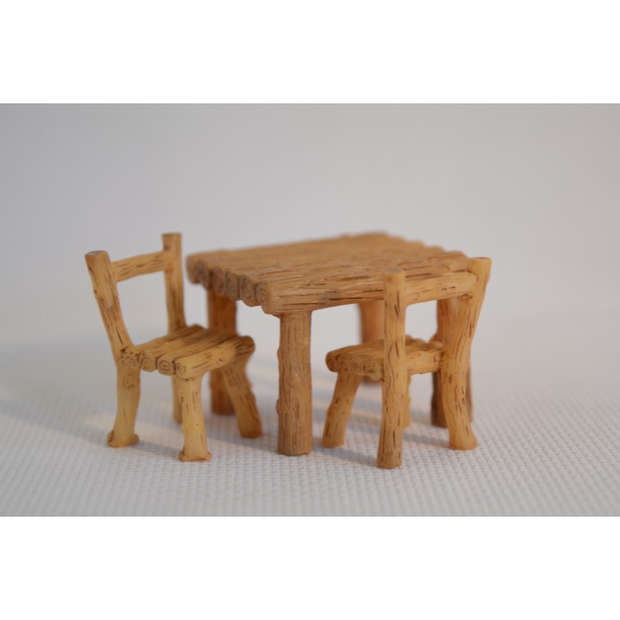 1 Pair Resin Miniature Bench Stools Micro Landscapes Park Chair Figurines