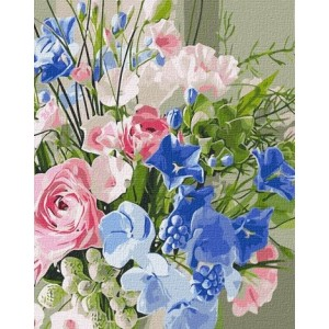 PAINT BY NUMBERS KIT Aesthetic bouquet 40 x 50 cm КНО2969 Framed