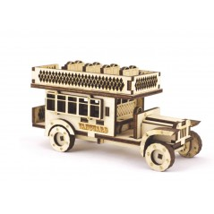 Designer plywood kit Double-decker bus F-106