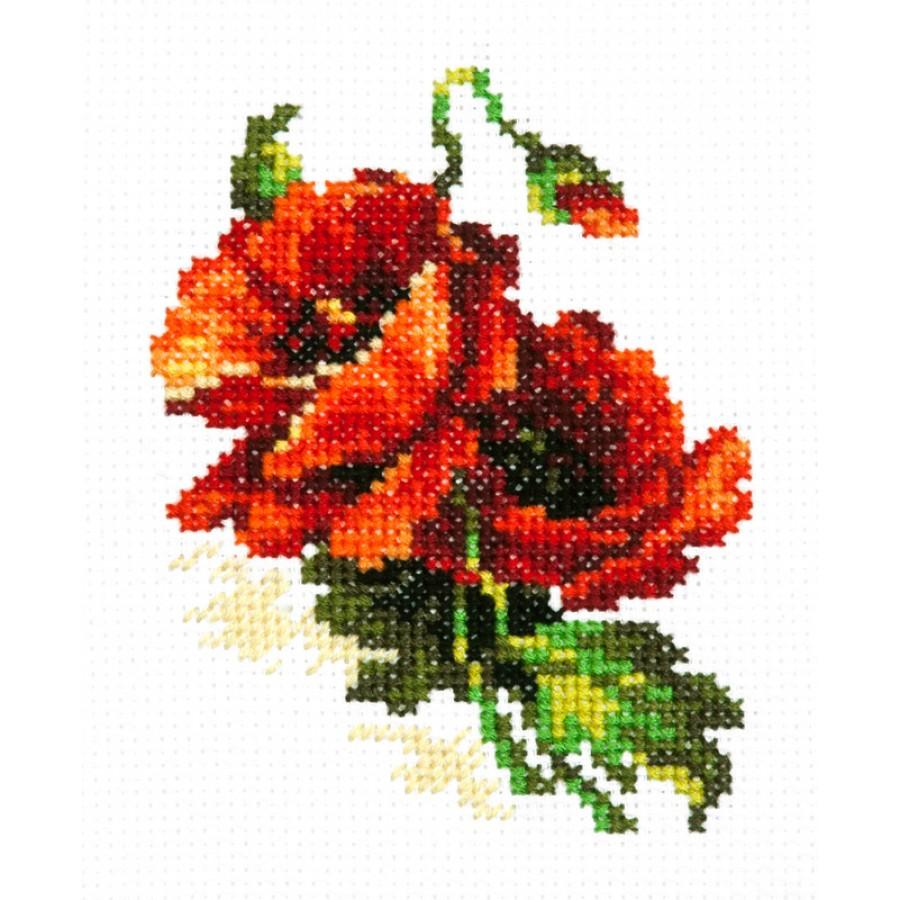 28-08 Cross Stitch Kit Rose art