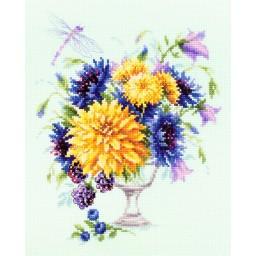 Cross Stitch Kit Summer bouquet art. 100-004