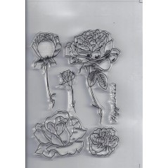 1 pc 11.3*15.56cm Transparent Silicone Rubber Clear Stamps Scrapbooking Roses