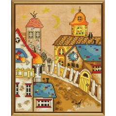 Cross Stitch Kit Town from fairy tale HHD4039