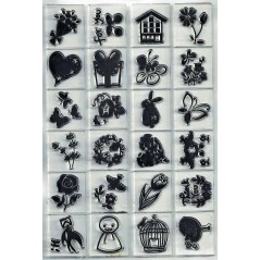 1 pcs 11.3*15.56cm Transparent Silicone Rubber Clear Stamps Scrapbooking Flower