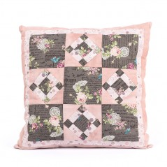 Patchwork kit Roses and Birds Pillow PLW-0110