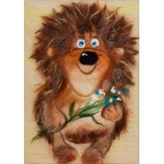 Painting with wool kit Hedgehog WA-0100