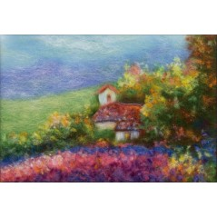 Painting with wool kit Landscape of Provence WA-0104