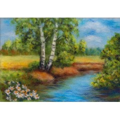 Painting with wool kit Forest river WA-0107