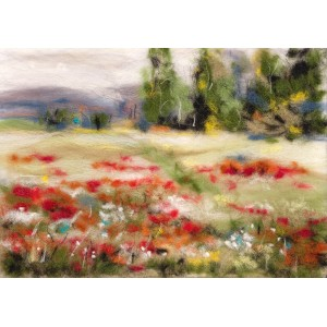 Painting with wool kit Among the flowers WA-0108