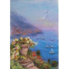 Painting with wool kit Italian coast WA-0109
