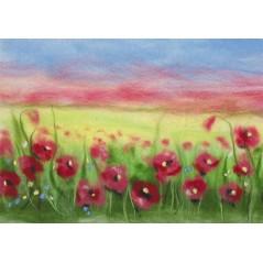 Painting with wool kit Poppy Field WA-0113