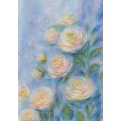 Painting with wool kit Rose charm WA-0114