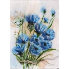Painting with wool kit Air cornflowers WA-0123