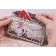 Patchwork kit Girl with Geese Wallet ACS-0130