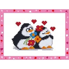 DIAMOND PAINTING KIT PENGUINS IN LOVE ALVS-010