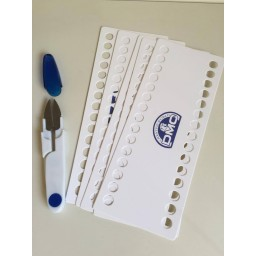 Set 5 pcs DMC threads organizer 30 holes + 1 Thread Cutter Scissors