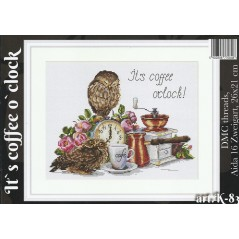 Cross Stitch Kit It's coffee O'clock K-83