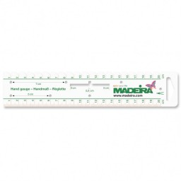 Madeira Hand Gauge Measuring Rule: 20cm art. 9468