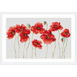 Cross Stitch Kit Poppies B2223