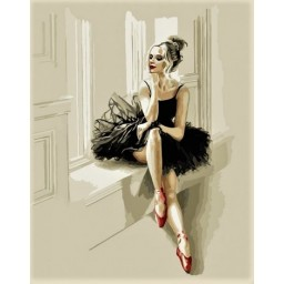 PAINT BY NUMBERS KIT The sophistication of a ballerina 40 x 50 cm КНО4548 Framed