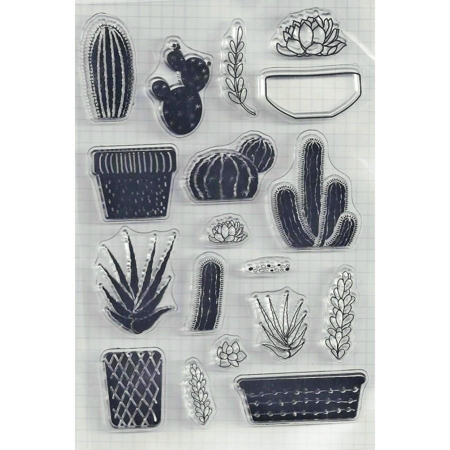 1 PC Cactus Transparent Silicone Clear Stamp For Scrapbooking Album DIY Craft Decoration Rubber
