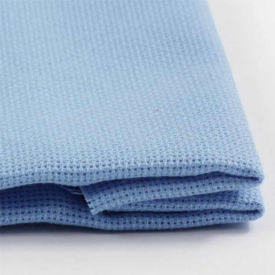 1 Pcs Light blue Cotton Aida 11 ct 50x50cm