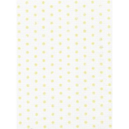 1 Pc Designer Fabric Aida 14ct 40x30cm KD14-068 Yellow dots