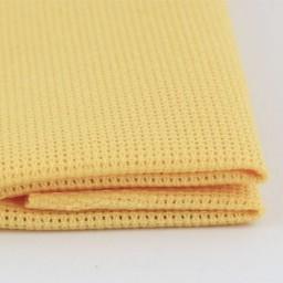 1 Pc Yellow 2 Cotton Aida 14 ct 50 x 50 cm