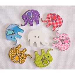 10 Pcs Elephant Wooden Button 2 Holes DIY Scrapbooking Crafts Sewing art. 354