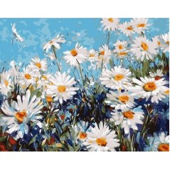 PAINT BY NUMBERS KIT Forest daisies 40 x 50 cm КНО2918 Framed
