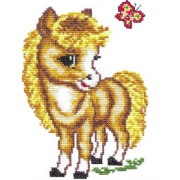 Cross Stitch kit Little horse art. 18-02