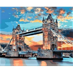 PAINT BY NUMBERS KIT London 40 x 50 cm КНО3515 Framed