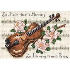 Cross Stitch Kit MUSIC IS HARMONY 16656
