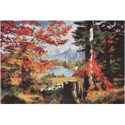 Cross Stitch Kit Valley in the fall PE3250