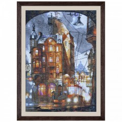 Cross Stitch Kit Night city PE3331