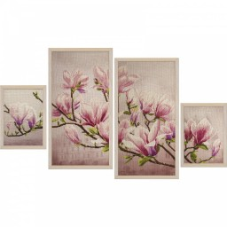 Cross Stitch Kit Saucer Magnolia CB6550-Y