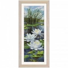 Cross Stitch Kit White lilies CB3089-Y