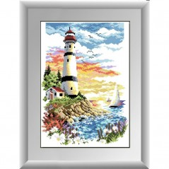 DIAMOND PAINTING KIT At the dawn of a new day lighthouse (square, full) 30175D
