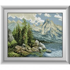 DIAMOND PAINTING KIT Lake in the mountains (square, full) 30547D