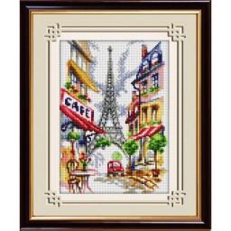 DIAMOND PAINTING KIT Parisian Cafe (square, full) 30063D