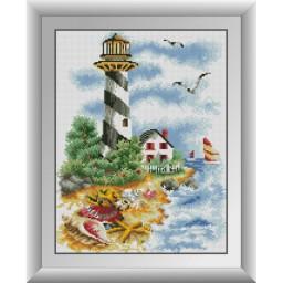 DIAMOND PAINTING KIT Path to the lighthouse (square, full) 30535D