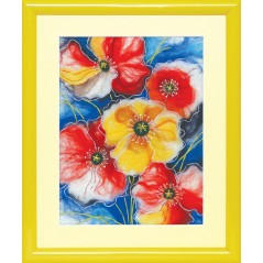 Painting with wool kit Colors of summer B-204
