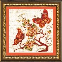 Cross Stitch Kit Fly - Butterflies art. 182