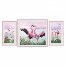 Cross Stitch Kit Flamingo dance CP6550