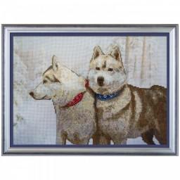 Cross Stitch Kit Snow dogs CB3096-Y