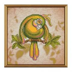 Cross Stitch Kit Green Parrot PE4345-Y