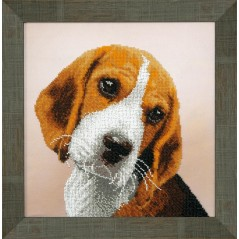 Bead embroidery kit Beagle B-744
