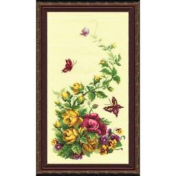Cross Stitch Kit Triptych Wildflowers art. 215