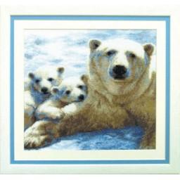 Cross Stitch Kit Polar family art. 497