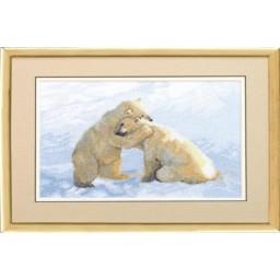 Cross Stitch Kit White Bears A-087